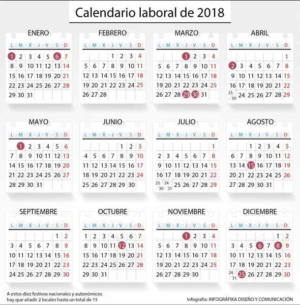 Calendario Laboral Espana.El Nuevo Ano Contara Con Diez Festivos En Toda Espana