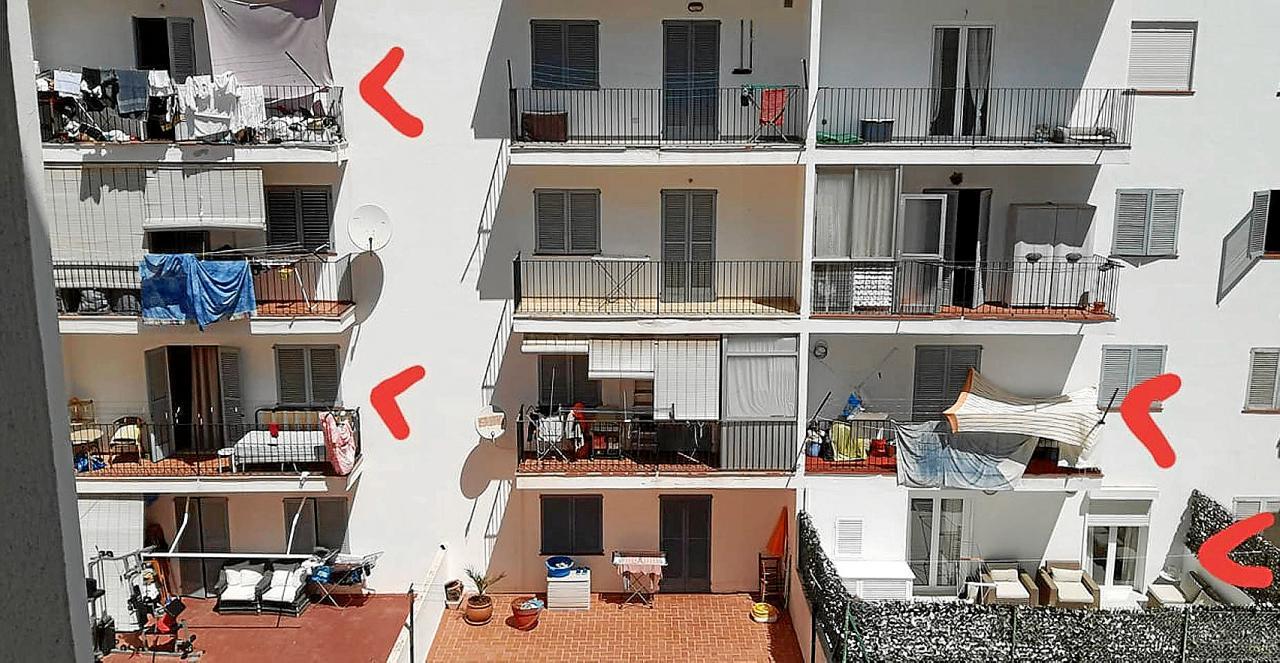 Alquilan balcones para pernoctar en la ciudad de Ibiza